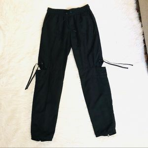 Kith Black Pants With Cut Out Details & Ankle Zip
